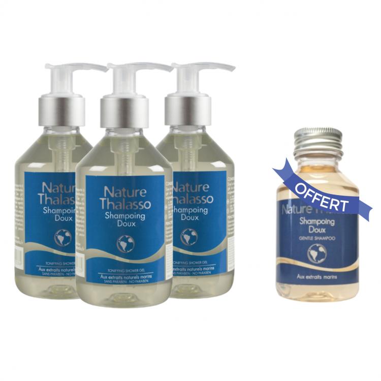 3 Shampoings Doux 250 Ml : un 100 Ml OFFERT