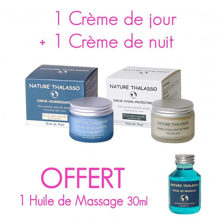 PROMO 2 Crèmes achetées , 1 Huile de Massage 30ml OFFERTE*